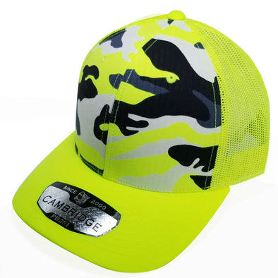 PB251 Pit Bull Cambridge 6 Panel Camo Trucker [N.Yellow Camo]