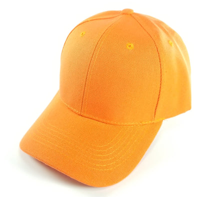 PB128 Pit Bull Hook And Loop Backstrap With Acrylic Curved Caps  [Orange]