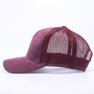 Pit Bull Suede Trucker Hat Wholesale [Wine]