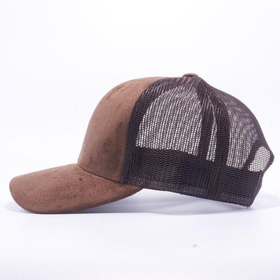 PIT BULL Brown Suede Trucker Hat Cap Wholesale