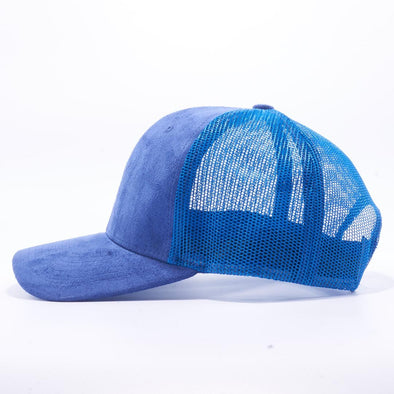 Pit Bull Suede Trucker Hat Wholesale [Royal]