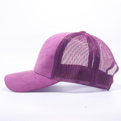 PIT BULL Purple Suede Trucker Hat Cap Wholesale
