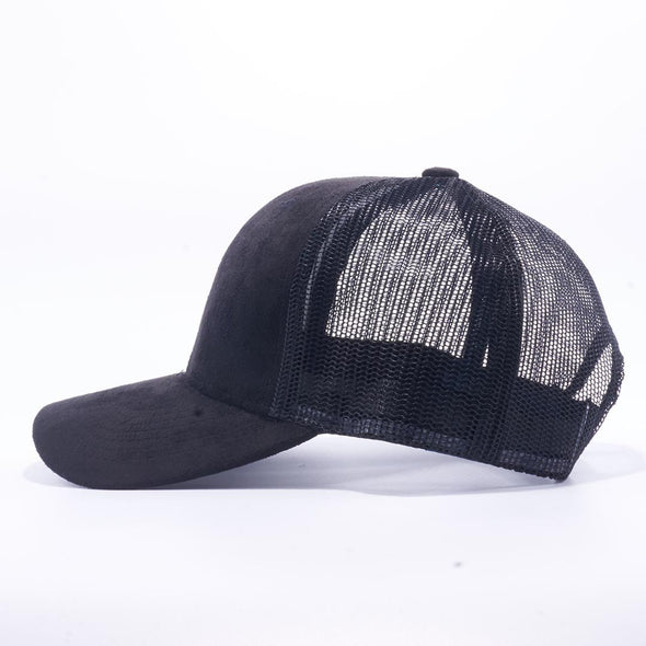 Black Suede Trucker Hat Cap Wholesale