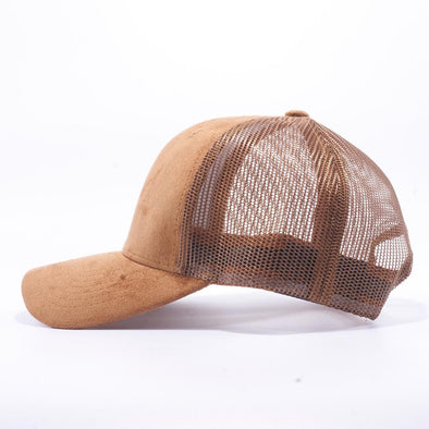Pit Bull Suede Trucker Hat Wholesale [Wheat]