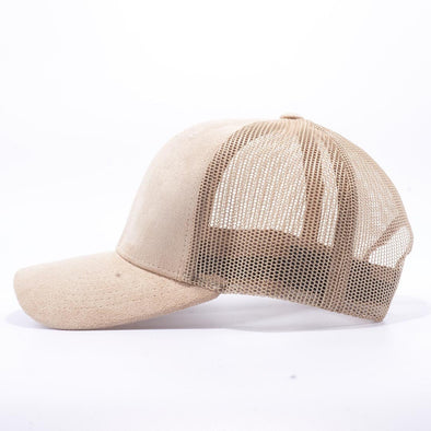 Pit Bull Suede Trucker Hat Wholesale [Stone]