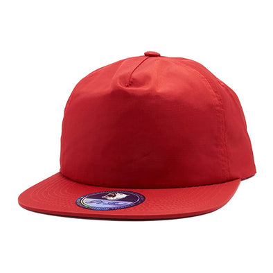 Pb196 Pit Bull Unstructured 5 Panel Nylon Hats Wholesale [Red] Dad Hat