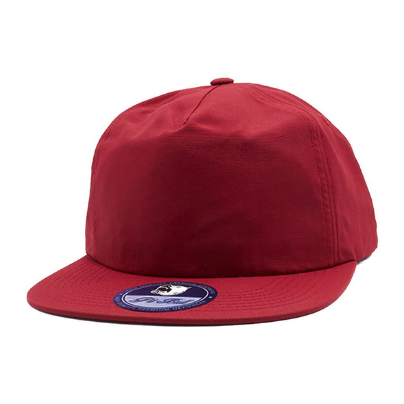 Pb196 Pit Bull Unstructured 5 Panel Nylon Hats Wholesale [Burgundy] Dad Hat