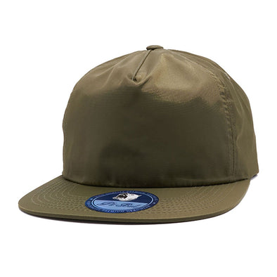 Pb196 Pit Bull Unstructured 5 Panel Nylon Hats Wholesale [Olive] Dad Hat