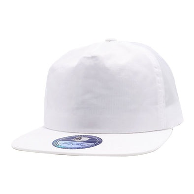 Pb196 Pit Bull Unstructured 5 Panel Nylon Hats Wholesale [White] Dad Hat