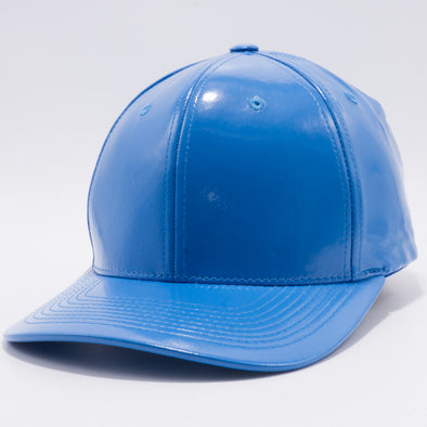 PB232R Cambridge Enamel PU Snap Back Hat [Blue]