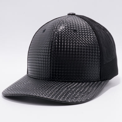 PB234 Cambridge Multi PU Ear Mesh Trucker Hat [K30 Black]