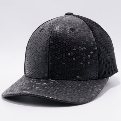 PB234 Cambridge Multi PU Mesh Trucker Hat [K8 Black]