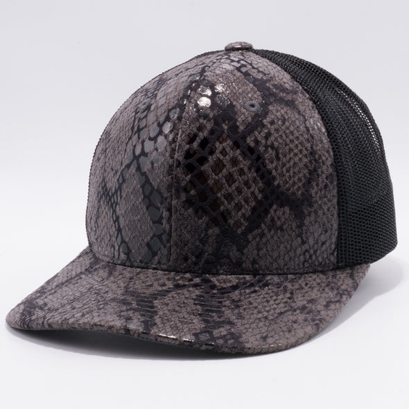 PB234 Cambridge Multi PU Mesh Trucker Hat [K32 Charcoal/Black]