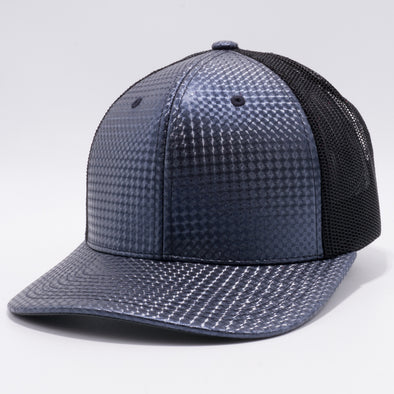 PB234 Cambridge Multi PU Mesh Trucker Hat [K30 Charcoal/Black]