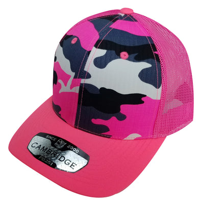 PB251 Pit Bull Cambridge 6 Panel Camo Trucker [N.Pink Camo]