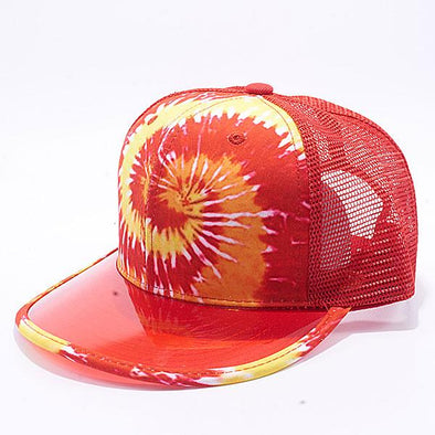 Pit Bull Tie Dye Anti UV Visor Snapback Hats Wholesale [Red]