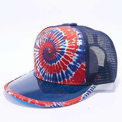 Pit Bull Tie Dye Anti Uv Visor Snapback Hats Wholesale [Usa 4] Trucker