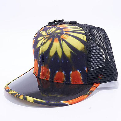 Pit Bull Tie Dye Anti UV Visor Snapback Hats Wholesale [Black/Gold]