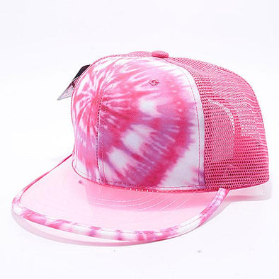 Pit Bull Tie Dye Anti UV Visor Snapback Hats Wholesale [Pink 2]