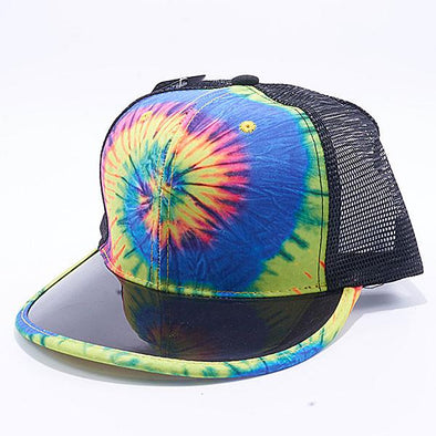 Pit Bull Tie Dye Anti UV Visor Snapback Hats Wholesale [Rainbow 2]