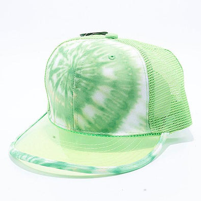 Pit Bull Tie Dye Anti UV Visor Snapback Hats Wholesale [Lime]