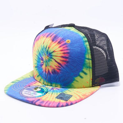 Pit Bull Tie Dye Trucker Hats Wholesale [Rainbow 2]