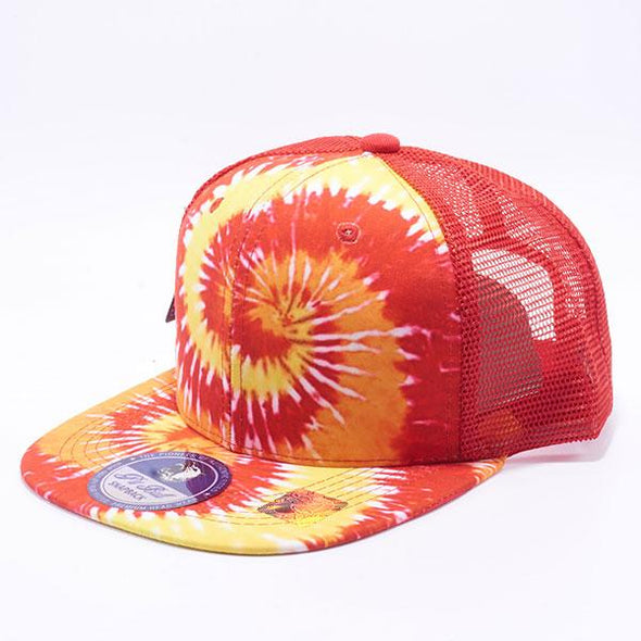 Pit Bull Tie Dye Trucker Hats Wholesale [Red]