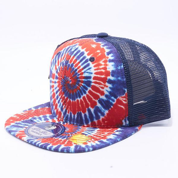 Pit Bull Tie Dye Trucker Hats Wholesale [USA 4]