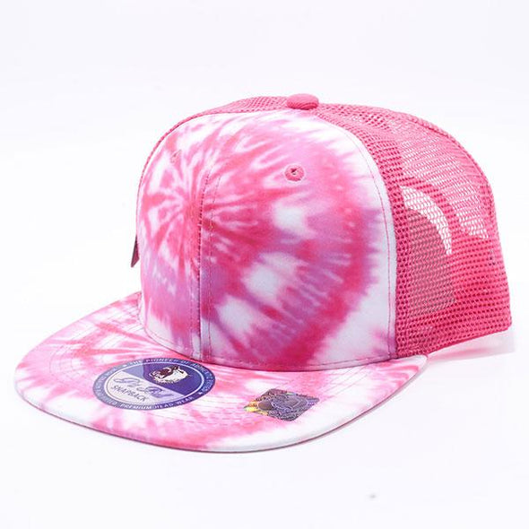 Pit Bull Tie Dye Trucker Hats Wholesale [Pink 2]