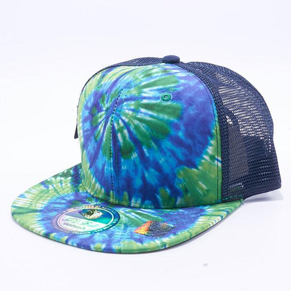 Pit Bull Tie Dye Trucker Hats Wholesale [Green/Blue]