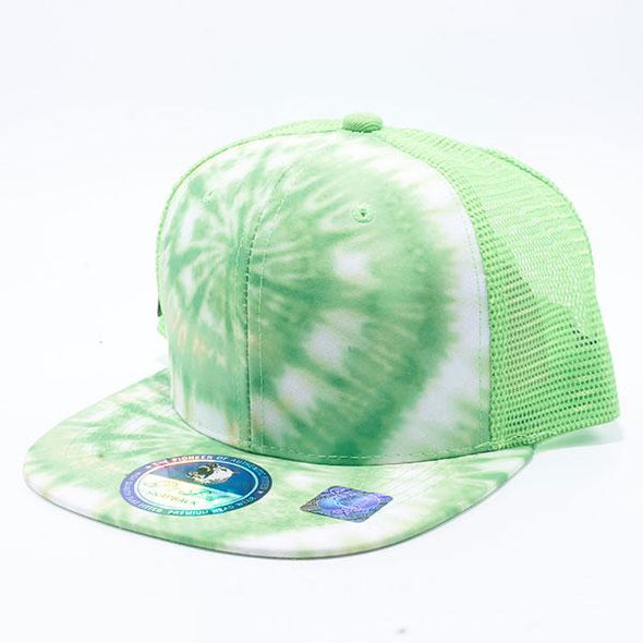 Pit Bull Tie Dye Trucker Hats Wholesale [Lime]