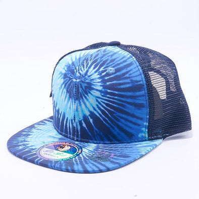 Pit Bull Tie Dye Trucker Hats Wholesale [Navy]