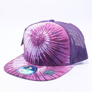 Pit Bull Tie Dye Trucker Hats Wholesale [Purple]