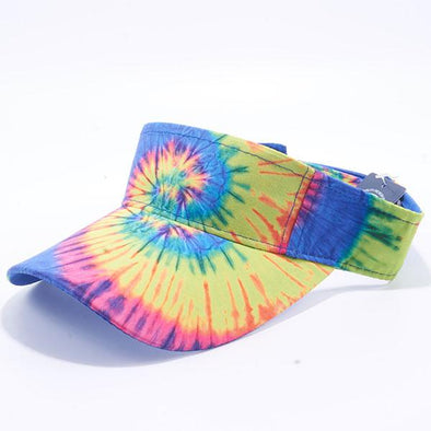 Pit Bull Tie Dye Visor Hats Wholesale [Rainbow 2]