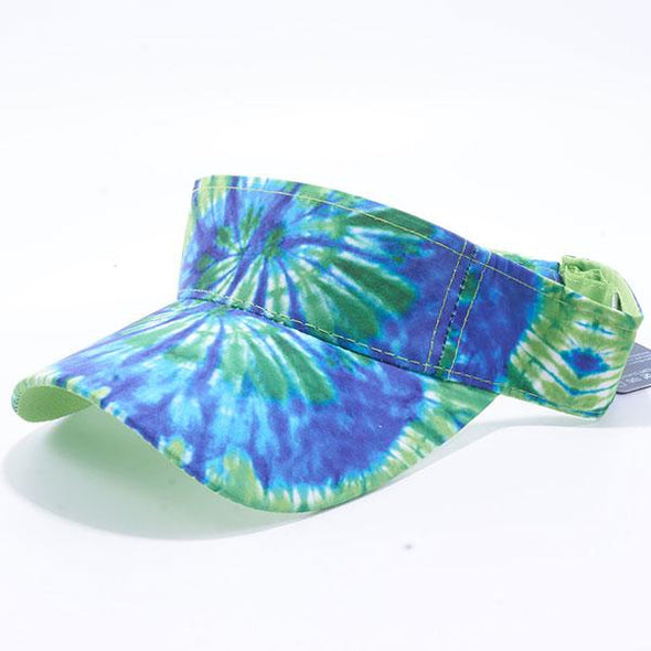 Pit Bull Tie Dye Visor Hats Wholesale [Green/Blue]