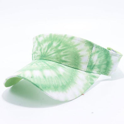 Pit Bull Tie Dye Visor Hats Wholesale [Lime]