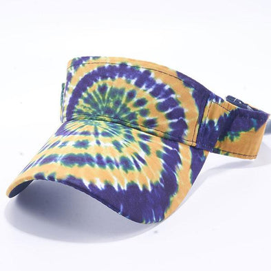 Pit Bull Tie Dye Visor Hats Wholesale [Navy/gold]
