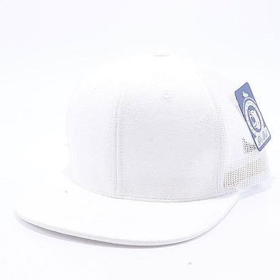 Pit Bull Suede Flat Brim Trucker Hats Wholesale [White]