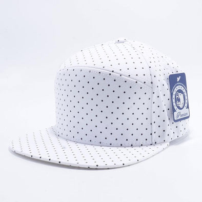 Pit Bull Polkadot Strapback Hats Wholesale [White/black] Adjustable