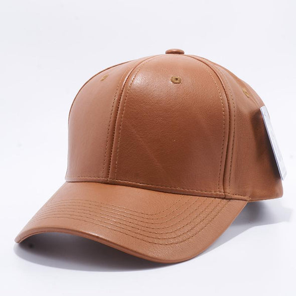 Pit Bull Pu Leather Baseball Hats Wholesale [Wheat] Adjustable
