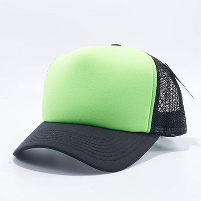 Pit Bull 5 Panel Foam Trucker Hats Wholesale [Black/N.Green/Black]