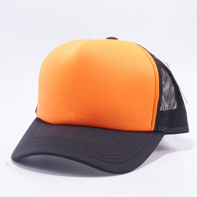 Pit Bull 5 Panel Foam Trucker Hats Wholesale [Black/Orange/Black]