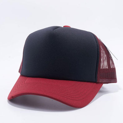 Pit Bull 5 Panel Foam Trucker Hats Wholesale [Burgundy/Black/Burgundy]