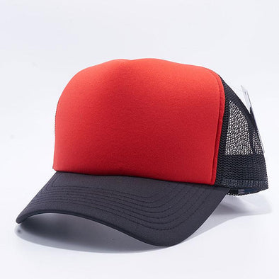 Pit Bull 5 Panel Foam Trucker Hats Wholesale [Black/Red/Black]