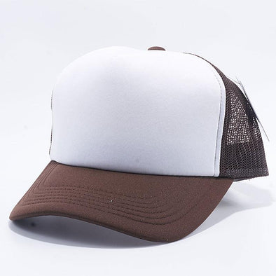 Pit Bull 5 Panel Foam Trucker Hats Wholesale [Brown/White/Brown]