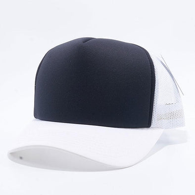 Pit Bull 5 Panel Foam Trucker Hats Wholesale [White/Black/White]