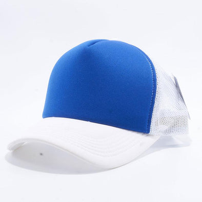 Pit Bull 5 Panel Foam Trucker Hats Wholesale [White/Royal/White]
