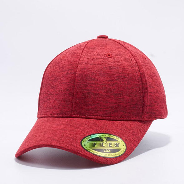 Shop PB220 Pit Bull Red Space Dyed Jersey Flex Comfort Fit Hats Caps Wholesale and Custom