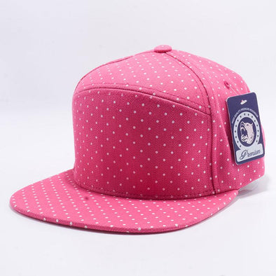 Pit Bull Polkadot Strapback Hats Wholesale [Denim H.pink/white] Adjustable