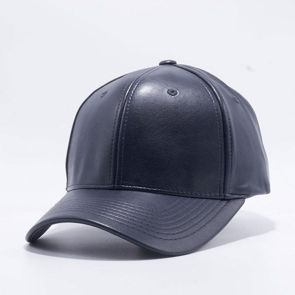 Pit Bull Pu Leather Baseball Hats Wholesale [Navy] Adjustable